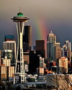 Seattle Skyline Photos - Colors of Seattle by Benjamin Yeager