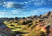 South Dakota Tourism Photos - Colors Of The Badlands by Mel Steinhauer