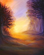 Hand Made Art - Colors of the Morning Light by Lilia D