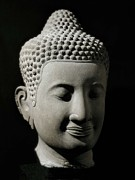 Colossal Posters - Colossal Buddha Head. 13th-14th C Poster by Everett