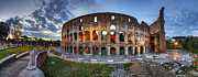 Gladiator Framed Prints - Colosseo Panorama Framed Print by Yhun Suarez