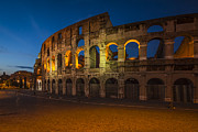 Italian Sunset Metal Prints - Colosseum Metal Print by Erik Brede