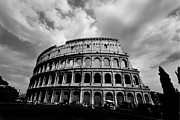 Colosseum In Black And White Print by Samantha Higgs