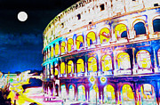 Colliseum Posters - Colosseum in Rome Poster by Lanjee Chee