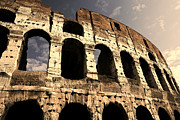 Italian Sunset Posters - Colosseum in the early evening Poster by Ron Sumners