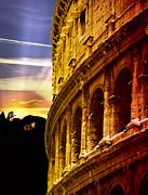 Colosseum Sunset Print by Stefano Senise