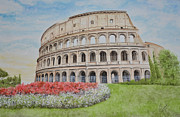 Engineering Painting Framed Prints - Colosseum Framed Print by Swati Singh