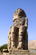 Hathor Metal Prints - Colossus of Memnon Egypt Metal Print by Brenda Kean