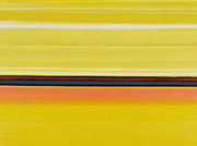 Yellow Line Painting Framed Prints - Colour Energy 13  Framed Print by Izabella Godlewska de Aranda