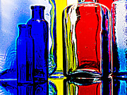 Still Life Glass Art - Coloured glass  by Malcolm Bumstead