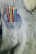 Denim Prints - Coloured Pencils Print by Joana Kruse