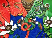 Neha  Shah - Colourful Elephants