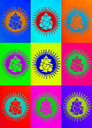 Indian Deities Metal Prints - Colourful Ganesha Metal Print by Tim Gainey