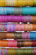 Colourful Framed Prints - Colourful Indian Bangles Framed Print by Tim Gainey