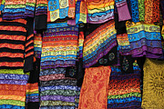 Textiles Photos - Colourful Indian Clothes by Tim Gainey