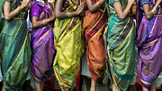 Indian Girl Photos - Colourful Sari Pattern by Tim Gainey