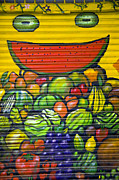 Greengrocer Framed Prints - Colourful Street Art Framed Print by John Rocha