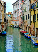 Old House Photographs Framed Prints - Colourful Venice Framed Print by John Tidball