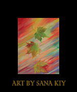 Original Paining Framed Prints - Colours of Autumn. Inspirations Collection. Framed Print by Oksana Semenchenko