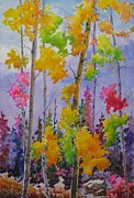 Tall Tree Paintings - Colours Of Fall by Mohamed Hirji