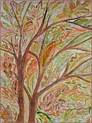 Fallen Leaf Painting Posters - Colours of Season Poster by Sonali Gangane