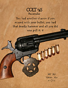 Colt 45 Framed Prints - Colt 45 Peacemaker 10 of 15 Framed Print by Thomas McClure