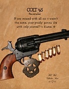Colt 45 Framed Prints - Colt 45 Peacemaker 12 of 15 Framed Print by Thomas McClure