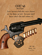 Colt 45 Prints - Colt 45 Peacemaker 14 of 15 Print by Thomas McClure