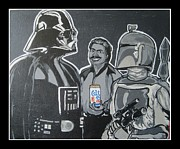 Boba Fett Paintings - Colt 45 Time by Gary Niles
