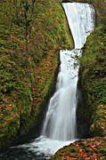Bridal Veil Falls Framed Prints - Columbia River Gorge Bridal Veil Framed Print by Adam Jewell