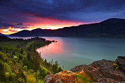 Pacific Northwest Photos - Columbia Sunset by Darren  White