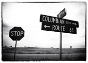 Stop Sign Photo Prints - Columbian Boulevard Print by John Rizzuto