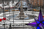 Warner Park Photo Prints - Columbus Circle View Print by Andrea Simon