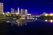 City Scape Metal Prints - Columbus - City Reflection Metal Print by Shane Psaltis