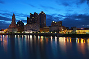 David Yunker Prints - Columbus Dawn Print by David Yunker