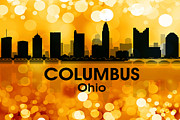 Columbus Ohio Framed Prints - Columbus OH 3 Framed Print by Angelina Vick