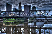 Kreuz Framed Prints - Columbus Ohio Downtown 03 Framed Print by J M L Patty