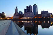David Yunker Prints - Columbus Park Skyline Print by David Yunker