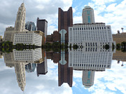 Genoa Prints - Columbus Reflection Print by Cityscape Photography