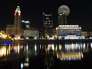 Genoa Prints - Columbus with the Moon Print by Cityscape Photography