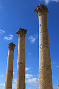 Of Antioch Posters - Columns at The Ancient City of Jerash in Jordan Poster by Ash Sharesomephotos