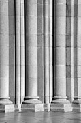 Universities Tapestries Textiles Prints - Columns at the University of Southern California Print by University Icons