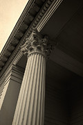 Neo-classical Photo Posters - Columns Poster by Edward Fielding