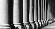 Royal Naval College Metal Prints - Columns in a Row Metal Print by John Gomez