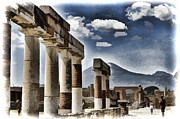 Pompeii Art - Columns of Pompeii by Jon Berghoff