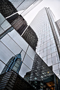 Corner Digital Art Framed Prints - Comcast Center with Liberty Place Reflection Framed Print by Bill Cannon
