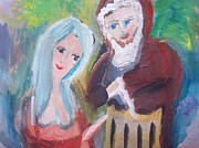 Father Christmas Originals - Come and get warm Santa by Judith Desrosiers