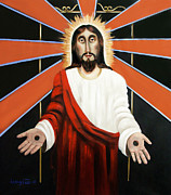 Jesus Mixed Media Prints - Come Print by Anthony Falbo