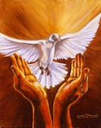 Brilliant Paintings - Come Holy Spirit by Carole Powell