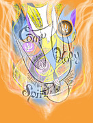 Spiritual Digital Art - Come Holy Spirit Come by Anne Cameron Cutri